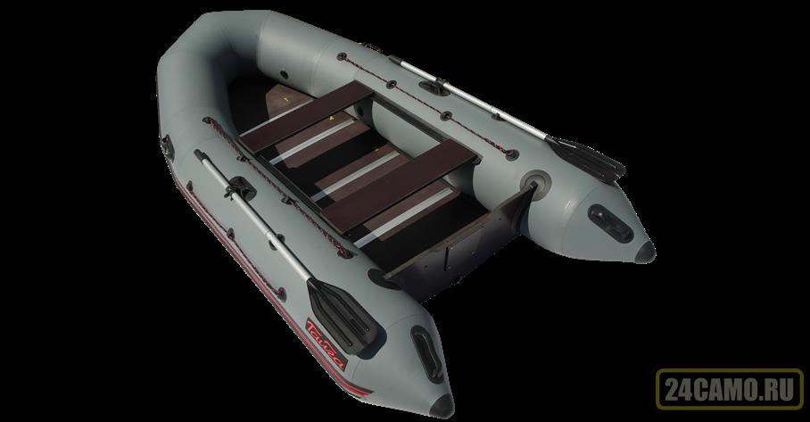 "Лодка ПВХ ""Тайга Nova - 340 Киль"" (2018) (серый цвет)"