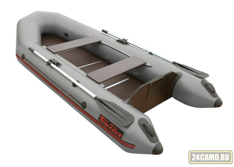 """Лодка ПВХ """"Тайга-270"""" (под мотор 4 л.с) (цв.СЕРЫЙ) (С-Пб)"""