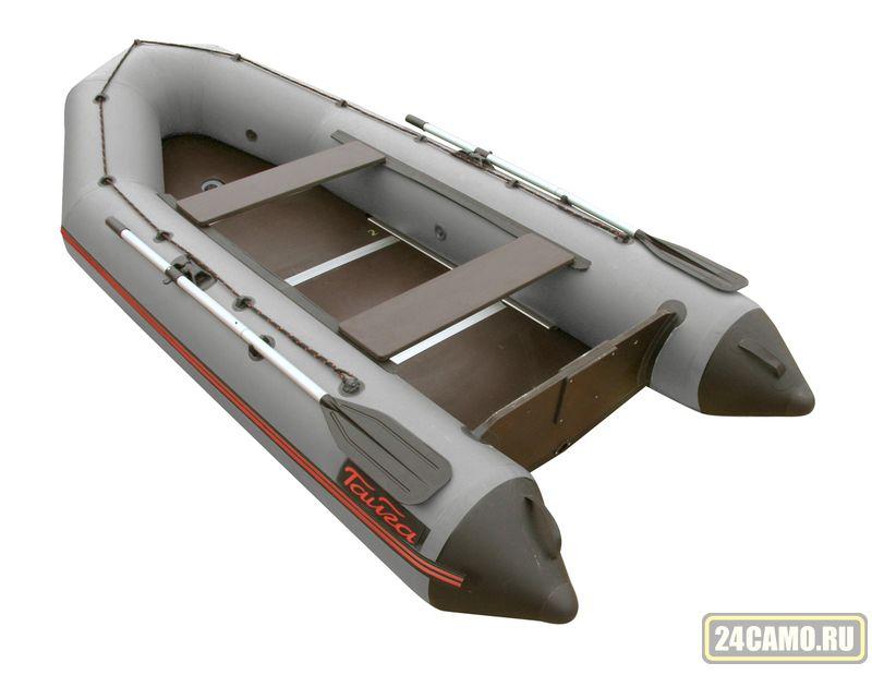 """Лодка ПВХ """"Тайга-340 Киль"""" (цв.СЕРЫЙ) (под мотор 15 л.с.) (2части) (С-Пб)"""
