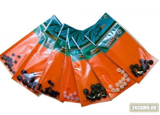 Бусина силикон. d6мм прозрачная (20шт.) (Три кита)