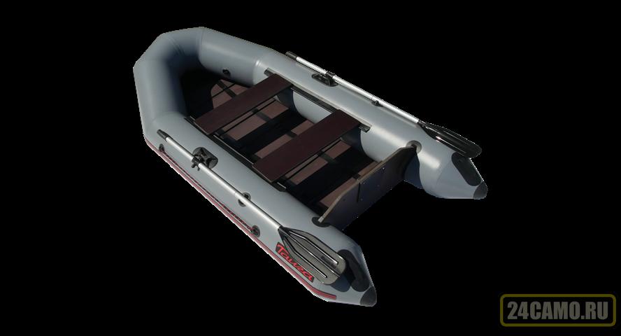 """Лодка ПВХ """"Тайга-290"""" (под мотор 5 л.с) (цв.СЕРЫЙ) (С-Пб)"""