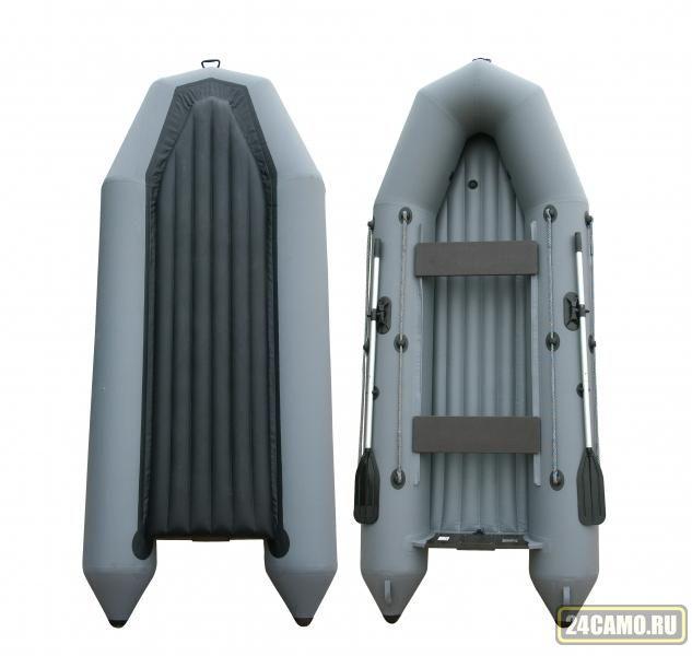 "Лодка ПВХ ""Тундра-380"" (С-Пб) (серый цвет) EXTRIM"