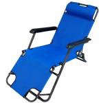 Кресло Woodland Lounger Oxford, складное, кемпинговое 153x60x79см (сталь, цвет синий)