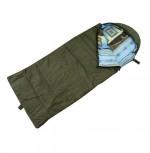 Спальный мешок БАТЫР СОК-2У (180*75) зелёный (холлофайбер) Helios