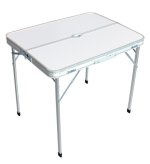 Стол Woodland Picnic Table Luxe складной, 80x60x68см (алюминий, с отв. под зонт)