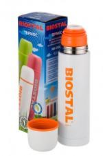 Термос Biostal NВ-1000 С 1,0л (узкое горло, кнопка) Красный