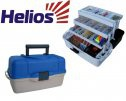 Ящик рыболова трехполочный синий HELIOS (Тонар)