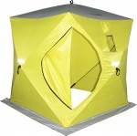 Палатка зимняя Сахалин 2, 150х150х170см (желтый/серый)