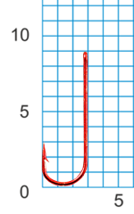 "Крючок SIWEIDA ""SCORPION"" CHIKA №18RED W/R (10шт.)"
