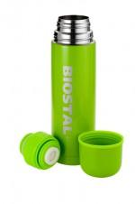 Термос Biostal NВ-1000 С 1,0л (узкое горло, кнопка) Зеленый