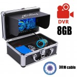 Подводная камера для рыбалки 7 дюймов (кабель 30м, функция записи DVR, белая подсветка)