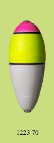 1223 70 Поплавок для дальн. заброса флюор. (h100/d40) 70г (25шт)