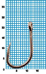 "Крючок SIWEIDA ""SCORPION"" FAULTLESS O'SHAUGHNESSY №1/0BLN W/R (5шт.)"