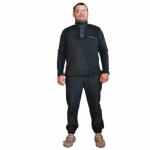 """Костюм """"Турист"""" флисовый (280г/м2) (черный) (БК)"""