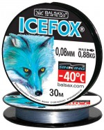 "Леска BALSAX ""Ice Fox"" 30м 0,08 (0,88кг)"