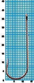 """Крючок SWD """"SCORPION"""" ABERDEEN WORM №1/0BLN W/R (5шт.)"""