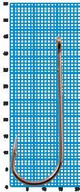 """Крючок SWD """"SCORPION"""" ABERDEEN WORM №3/0BLN W/R (5шт.)"""