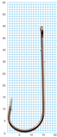 "Крючок SIWEIDA ""SCORPION"" ABERDEEN WORM №3/0BLN W/R (5шт.)"