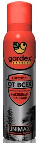 Аэрозоль Gardex Extreme от кровососущих насекомых и клещей 150мл