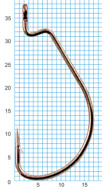 "Крючок SIWEIDA ""SCORPION"" WORM X STRONG №2/0BLN W/R (3шт.)"