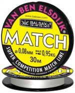 """Леска BALSAX """"Van Ben Elsdijk""""Match"""" 30м 0,08 (0,95кг)"""
