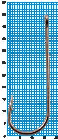 """Крючок SWD """"SCORPION"""" ABERDEEN WORM №4/0BLN W/R (5шт.)"""