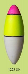 1223 80 Поплавок для дальн. заброса флюор. (h120/d40) 80г (25шт)