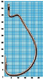 "Крючок SIWEIDA ""SCORPION"" WORM X STRONG №5/0BLN W/R (3шт.)"