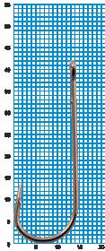 "Крючок SIWEIDA ""SCORPION"" ABERDEEN WORM №2/0BLN W/R (5шт.)"