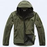 Куртка SoftShell акулья кожа (армейский зеленый)