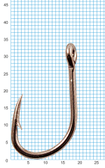 "Крючок SIWEIDA ""SCORPION"" FAULTLESS O'SHAUGHNESSY №6/0BLN W/R (3шт.)"