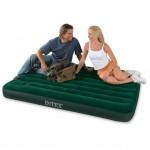 Кровать надувная Downy bed (Fiber tech) INTEX, встр. нож. насос 137*191*25 см