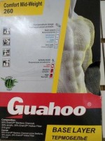 Термобелье Guahoo Comfort Mid-Weight 260, сорочка темно-серая, размер 50-52
