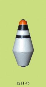 1211 Поплавок для дальн. заброса (h85/d40) 45г (25шт)