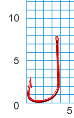 "Крючок SIWEIDA ""SCORPION"" SODE №16RED W/R (10шт.)"
