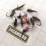Комплект мух №1 классика на Хариуса, Ленка (10 шт) малые и средние реки