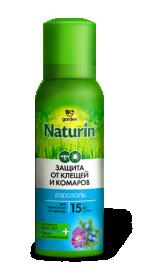 Аэрозоль Gardex Naturin от комаров и клещей на одежду100мл