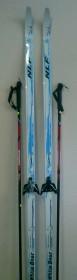 Лыжный комплект White Bear (лыжи, палки, креплен. 75) 150см б/н