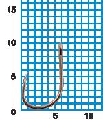 """Крючок SWD """"SCORPION"""" ISEAMA №10BLN W/R (10шт.)"""