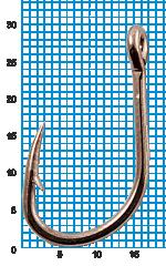 "Крючок SIWEIDA ""SCORPION"" FAULTLESS O'SHAUGHNESSY №4/0BLN W/R (5шт.)"