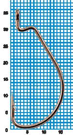 "Крючок SIWEIDA ""SCORPION"" WORM X STRONG №1/0BLN W/R (3шт.)"