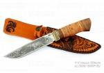 """Нож туристический """"Путник"""", сталь 65х13, дерево-орех, с гравировкой"""