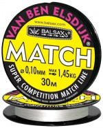 """Леска BALSAX """"Van Ben Elsdijk""""Match"""" 30м 0,10 (1,45кг)"""