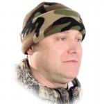 Шапка Woodline флисовая камуфляж
