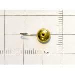 Мормышка паяная глазок 7мм чешуйка латунь №10 (Crown)