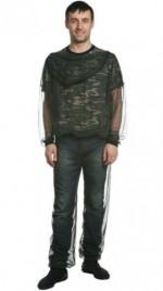 """Куртка Cosmo-Tex """"STOP-Москит"""" сетка (черный, зеленый)"""