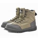 Ботинки Nordman Wade на шнурках с резиновой подошвой для вейдерсов (черный/зеленый)