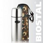 """Термос Biostal """"Охота"""" NBP-750В 0,75л (узк. горло, резьба,кам чехол)"""