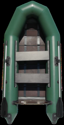 """Лодка ПВХ """"Тайга-290Р"""" (С-Пб) (зеленый цвет)"""